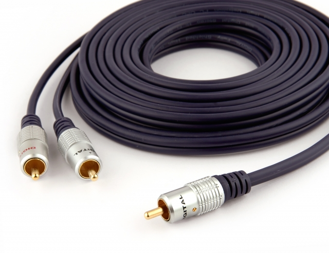 Pro Series 5m 1 RCA to 2 RCA Subwoofer Y-Cable (Photo )