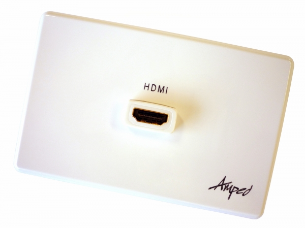 Amped Classic Single HDMI (White Wall Plate) (Photo )
