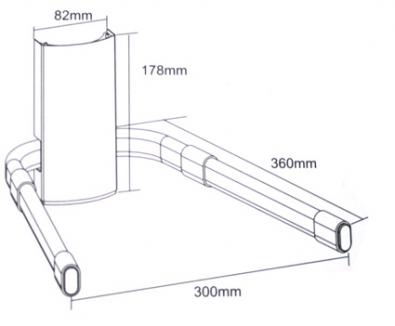 Premium DVD Player / Set Top Box / Amplifier Wall Mount - 25Kg (Black) (Photo )