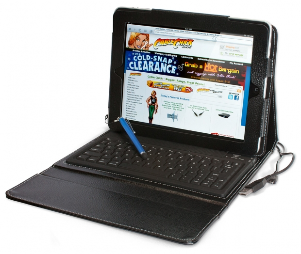 iPad Folio Case with Integrated Bluetooth Keyboard (for iPad Air Models) (Photo )
