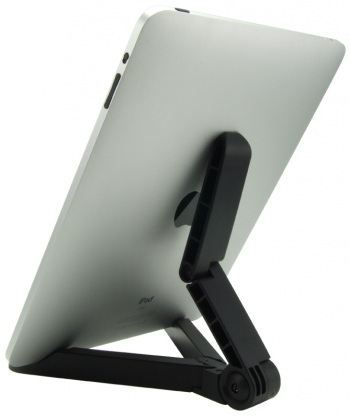 Compact Fold-Away Universal Tablet Travel Stand (Supports iPad, Android & PC Tablets) (Photo )