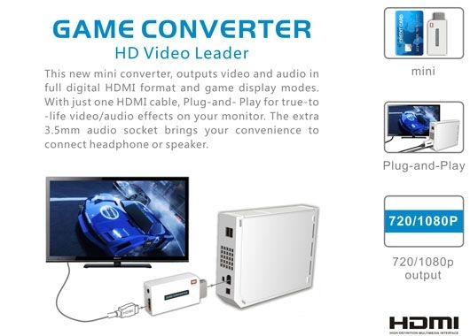 Nintendo Wii to HDMI Adaptor / Converter (Photo )