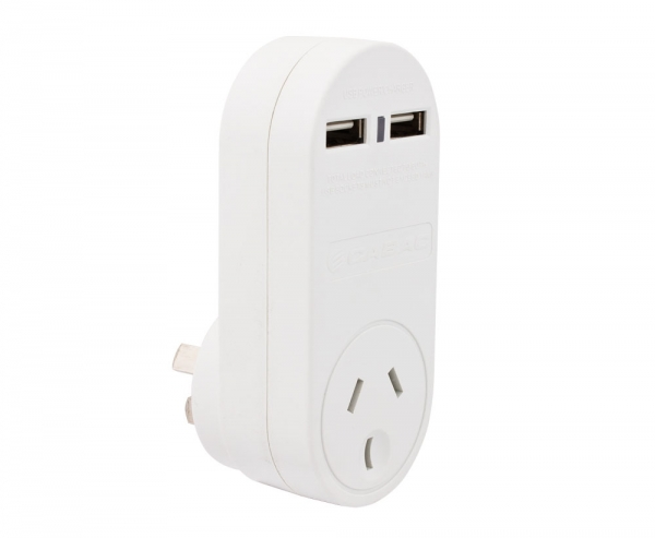 Single 240v Power Outlet + Two USB Charging Sockets (Photo )