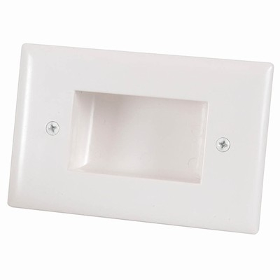 Bullnose Wall Plate with Recessed Entry for Cables (Photo )