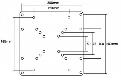 Universal VESA Mount Adapter Plate (VESA 50, 75, 100 & 200) (Photo )