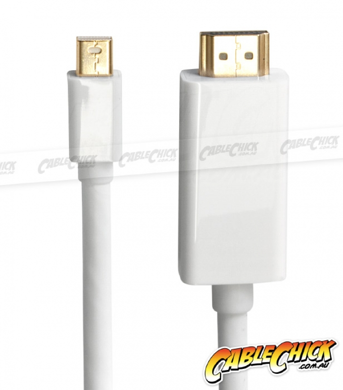 1.8m Mini-DisplayPort to HDMI Cable (Male to Male) - Thunderbolt Socket Compatible (Photo )