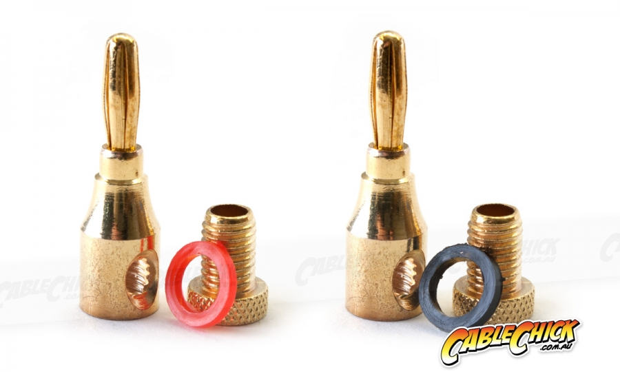 Compact Gold Plated Banana Plugs (Set of 2) (Photo )
