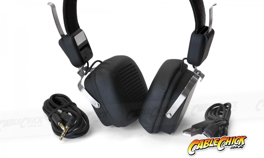Folding Rechargeable Bluetooth Headphones + Optional 3.5mm Input (Photo )