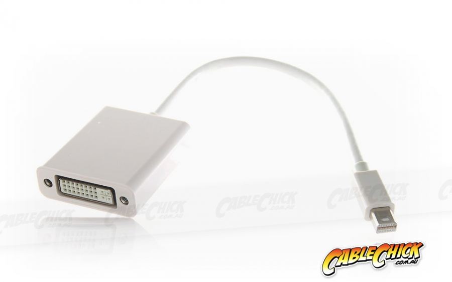 15cm Mini-DisplayPort to DVI Cable Adapter (Male to Female) - Thunderbolt Socket Compatible (Photo )