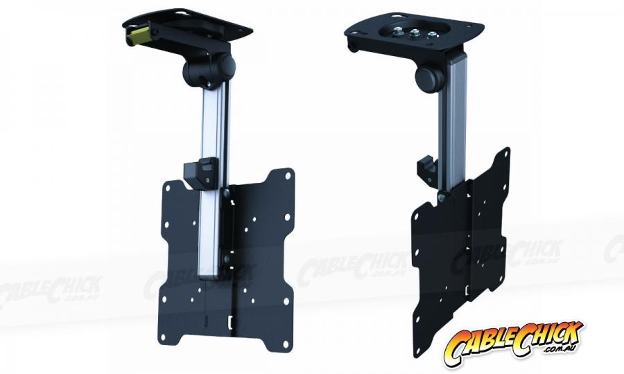 Fold-Away LCD TV Ceiling Mount (20kg Black) (Photo )