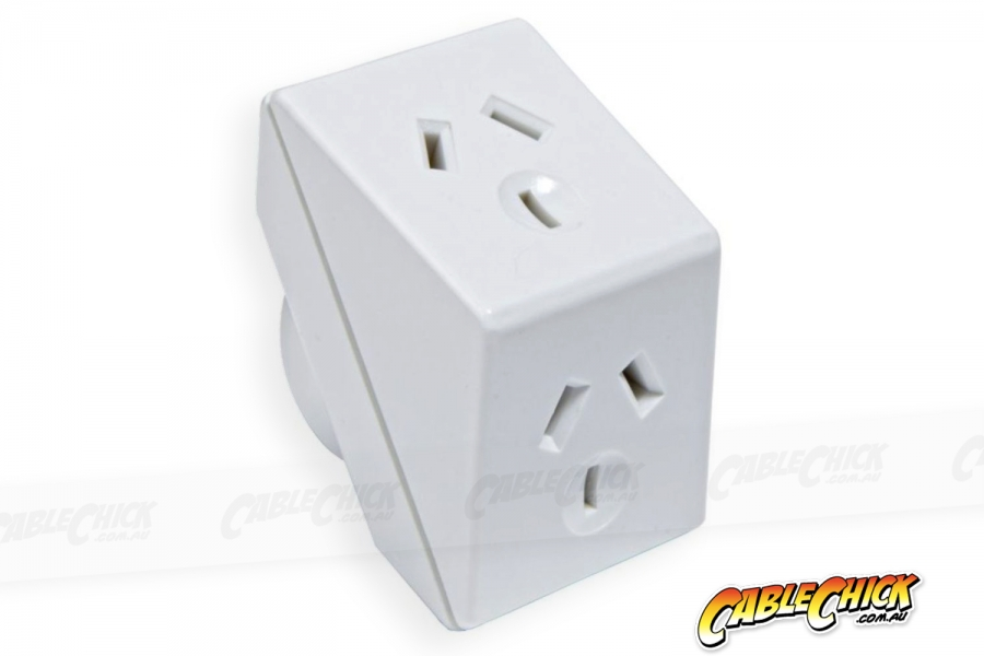 Australian Power Socket Triangle Double Adapter (Photo )