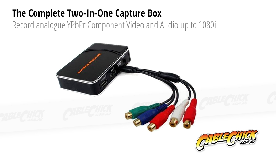 1080p HDMI & Component Video Capture Recorder - Save your Gaming Footage (Photo )