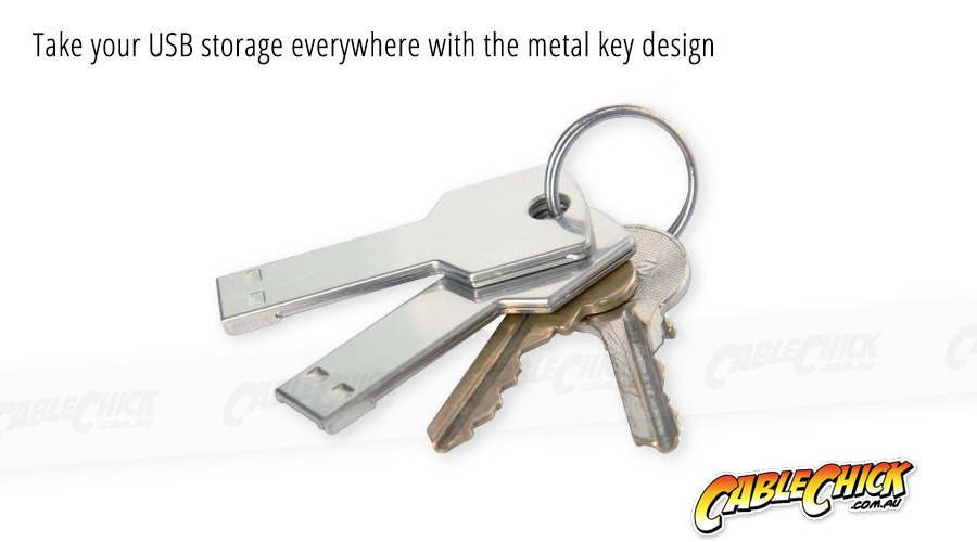Metal Key Design 16GB USB Drive (USB 2.0) (Photo )