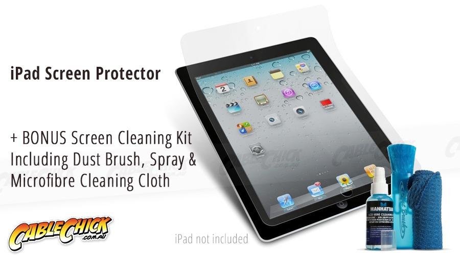 Apple iPad Screen Protector + Screen Cleaning Kit (iPad Gen 2, 3 & 4) (Photo )