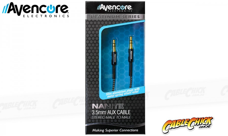 1m Avencore Platinum Series NANITE: 3.5mm Stereo Audio Cable (Photo )
