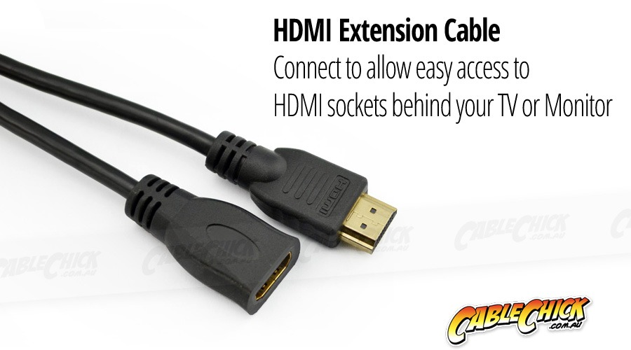 30cm HDMI Extension Cable (Type-A Male to Female) (Photo )