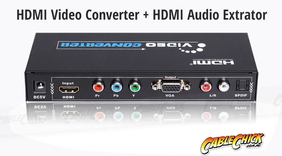 Multi-AV Converter (HDMI to VGA & Component + Audio Extraction) (Photo )