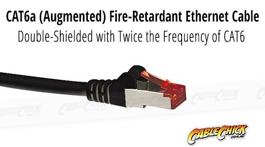 0.5m CAT6A Professional RJ45 Shielded Ethernet Cable (Black) (Photo )