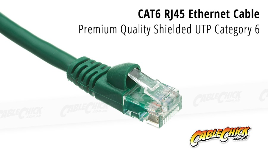 2m CAT6 RJ45 Ethernet Cable (Green) (Photo )