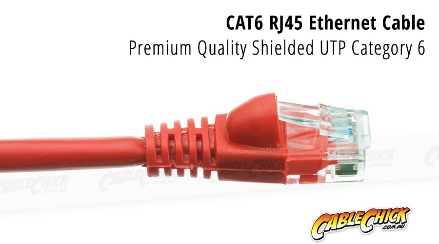 1m CAT6 RJ45 Ethernet Cable (Red) (Photo )