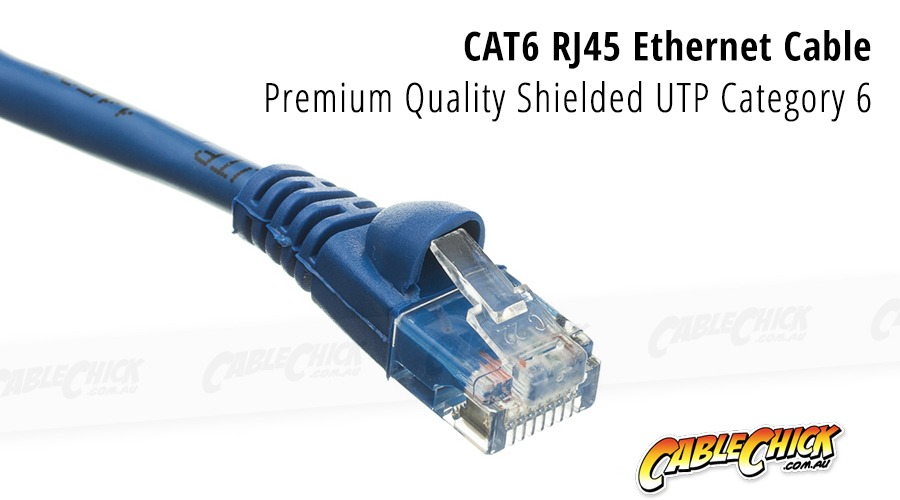 1m CAT6 RJ45 Ethernet Cable (Blue) (Photo )