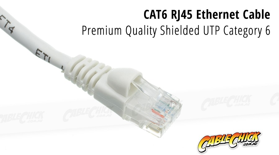 1m CAT6 RJ45 Ethernet Cable (White) (Photo )