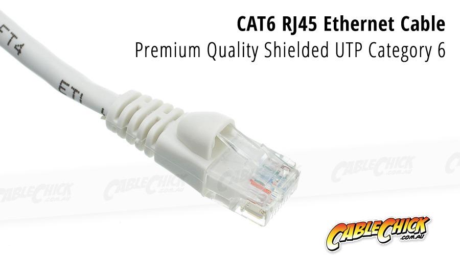 2m CAT6 RJ45 Ethernet Cable (White) (Photo )