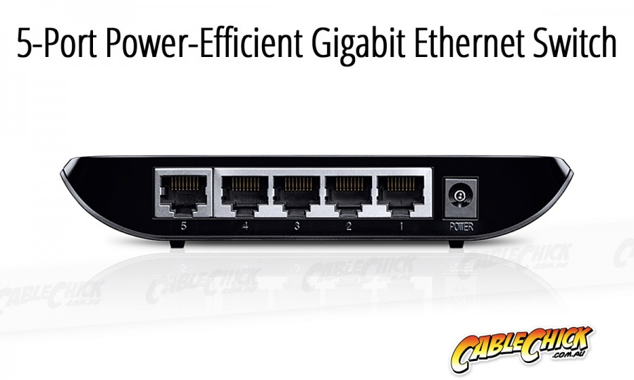 5-Port Gigabit Ethernet Switch (PC Network Switch) (Photo )