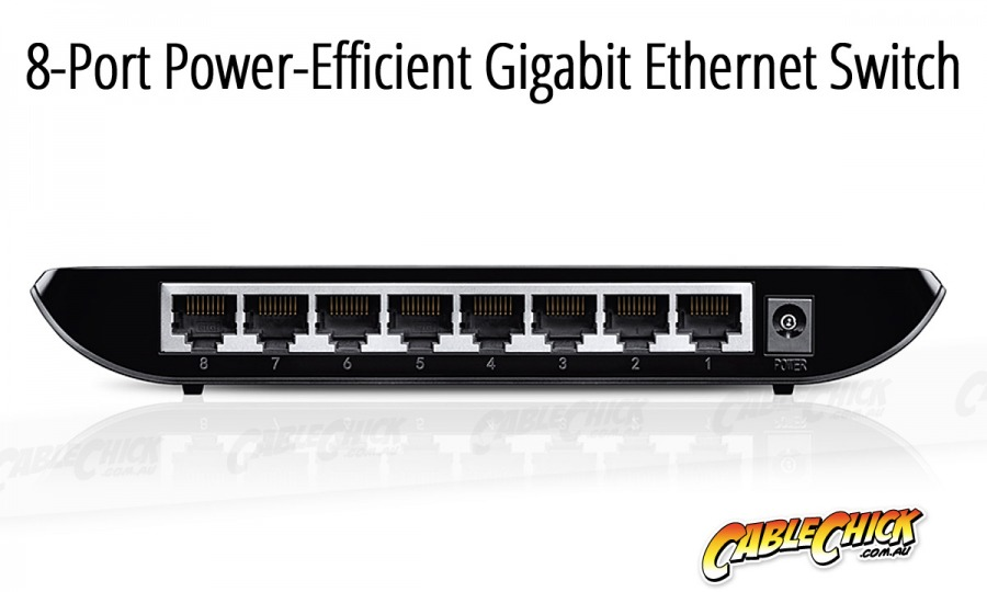 8-Port Gigabit Ethernet Switch (PC Network Switch) (Photo )