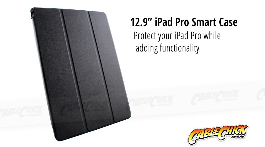 "12.9"" Apple iPad Pro Folding Smart Case (Black) (Photo )"