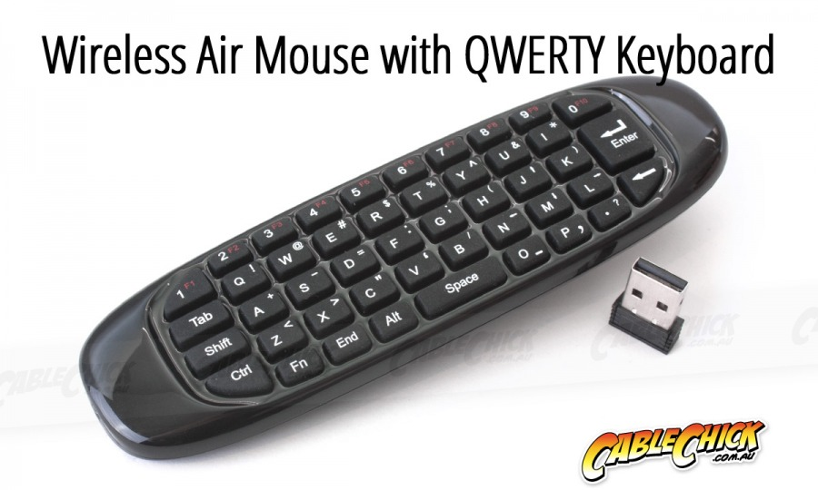 Wireless Air Mouse & Keyboard Remote Control (Windows, Mac, Android, Linux) (Photo )