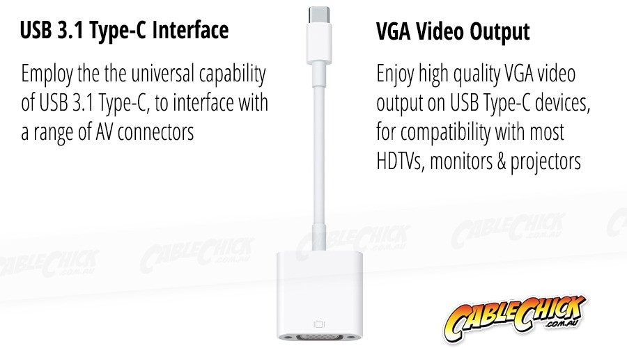 15cm USB 3.1 Type-C to VGA Cable Adapter (Photo )