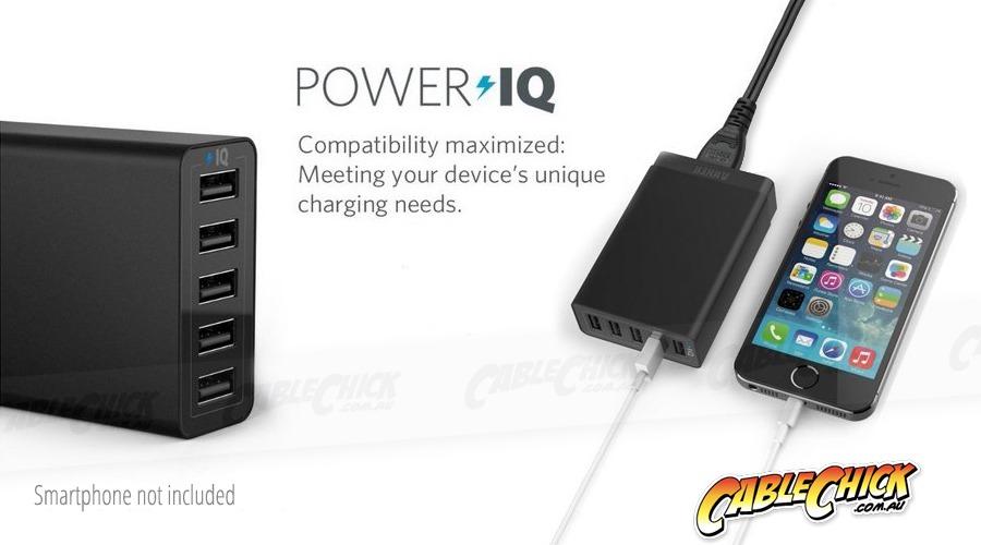 Anker Premium 60W 6-Port Desktop USB Charger with 6x PowerIQ (Photo )