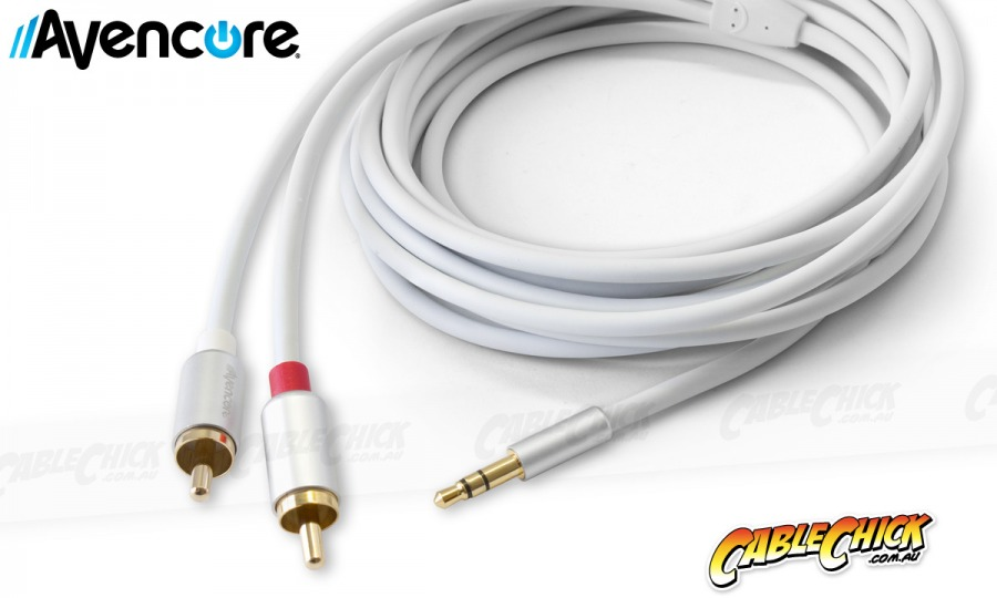 Avencore Crystal Series 3m Stereo 3.5mm to 2 RCA Cable (Photo )