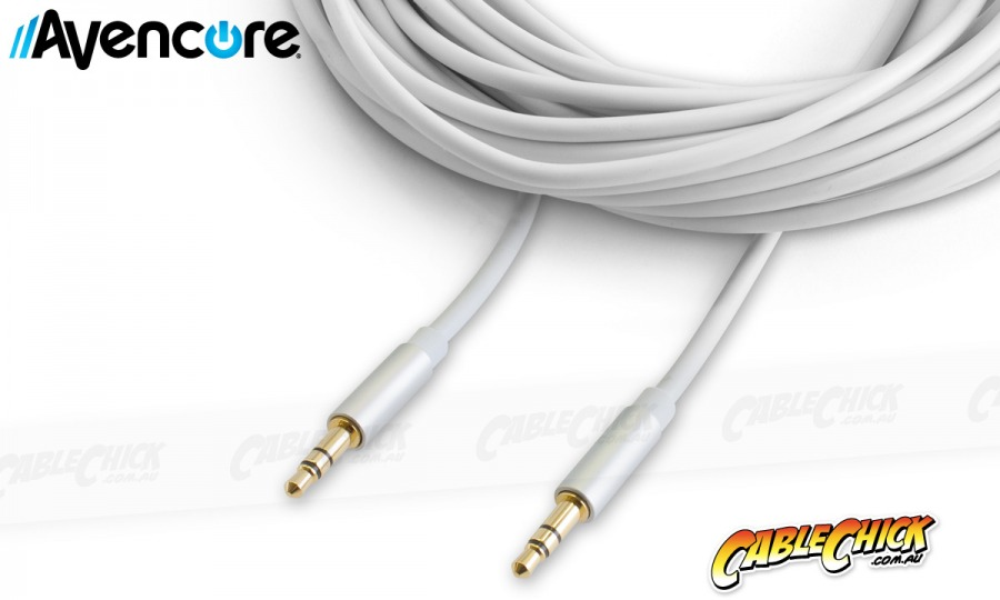 10m Avencore Crystal Series 3.5mm Stereo Audio Cable (Photo )