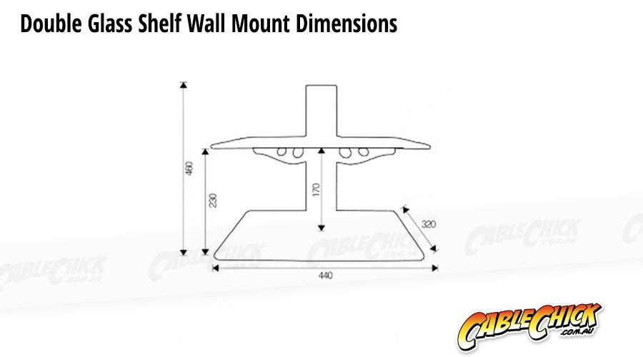 Double Wall Mounted Glass Shelf (15Kg) (Photo )