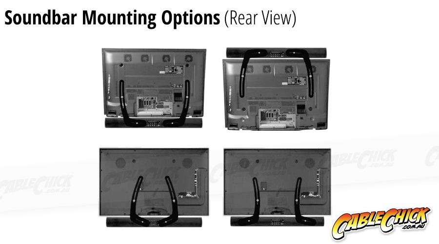 Universal Soundbar Wall Mounting Bracket (Mounts to TV) (Photo )
