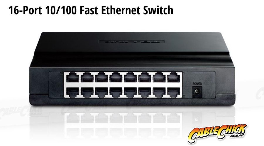 16-Port 10/100 Ethernet Switch (PC Network Switch) (Photo )