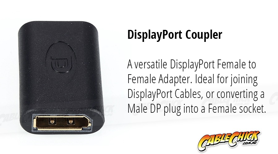 DisplayPort Female to Female Adaptor (DisplayPort Coupler) (Photo )