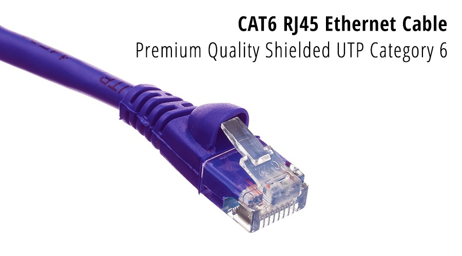 1m CAT6 RJ45 Ethernet Cable (Purple) (Photo )