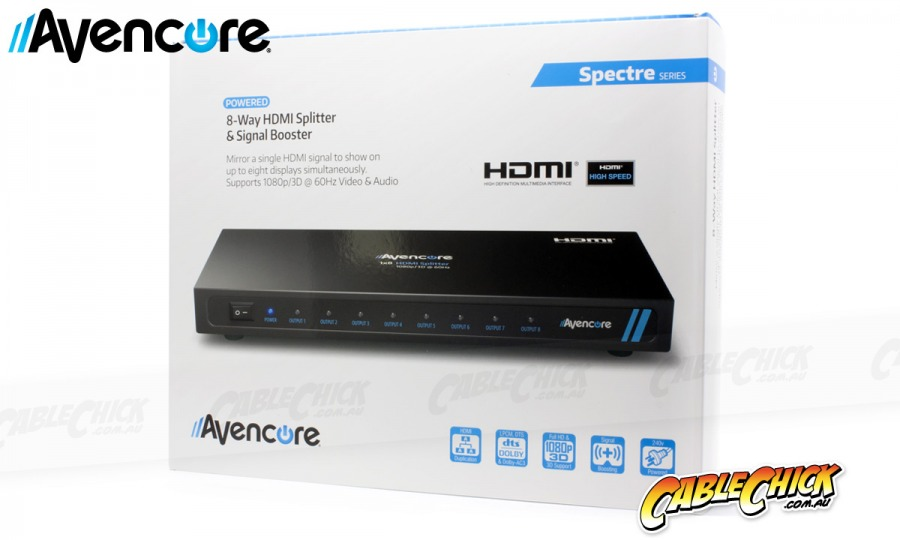 8-Way HDMI Splitter | 1x8 Distribution Amplifier + FREE SHIPPING