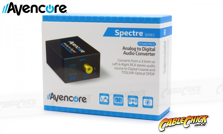 Avencore Analog to Digital Audio Converter (Stereo Audio to TOSLINK & Digital Coaxial) (Photo )