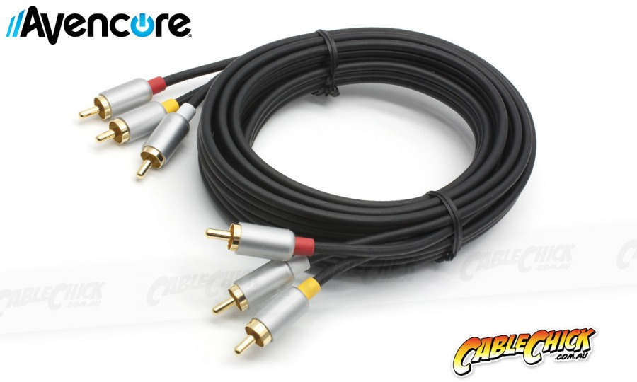 Avencore Crystal Series 2.5m AV Cable (3RCA Composite Video + L / R Audio) (Photo )