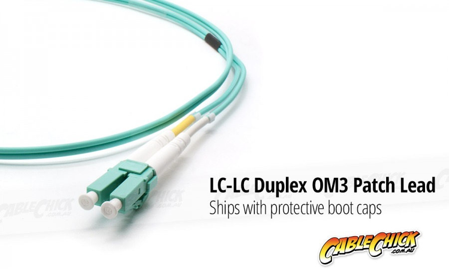 0.5m OM3 Multimode LC-LC Fibre Optic Patch Cable (Photo )