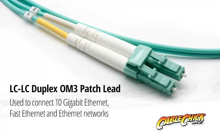 2m OM3 Multimode LC-LC Fibre Optic Patch Cable (Photo )