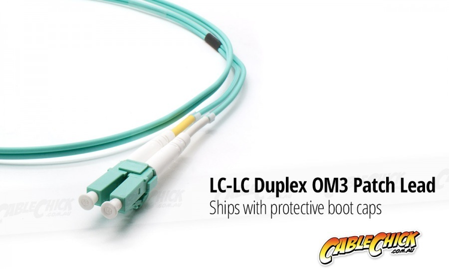 3m OM3 Multimode LC-LC Fibre Optic Patch Cable (Photo )