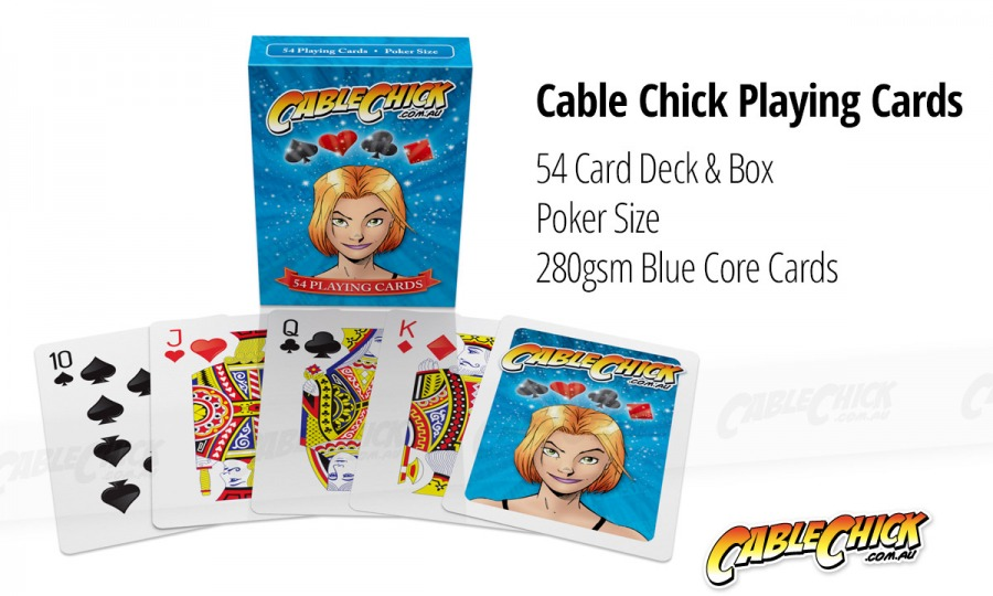 Cable Chick Playing Cards - 54 Card Deck (Photo )