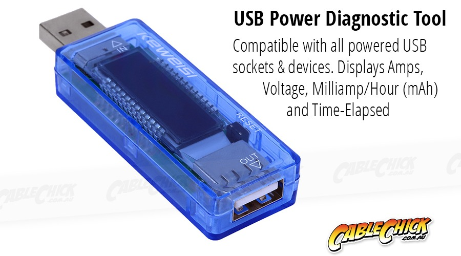 Advanced USB Output Meter (Displays Voltage, Amps & mAH) (Photo )
