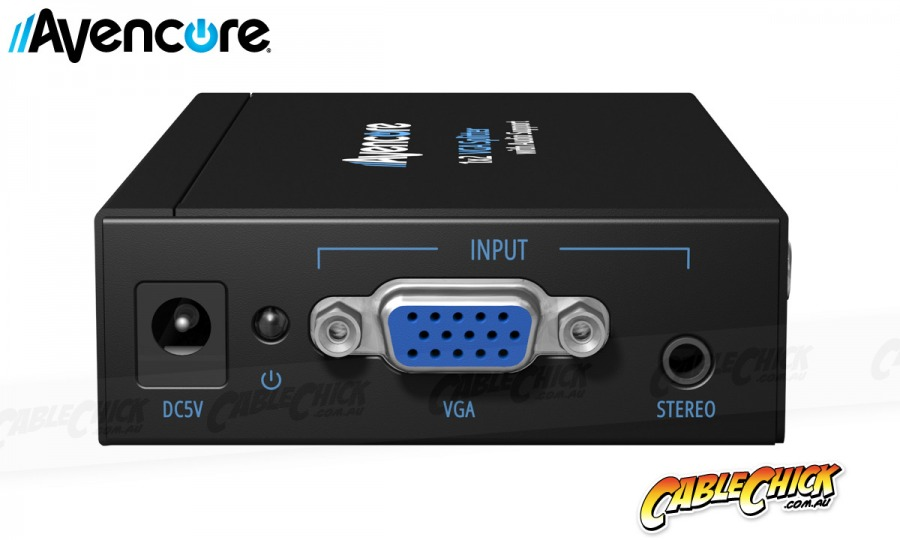 Avencore Powered 2-Way VGA Splitter with Audio (500MHz) (Photo )