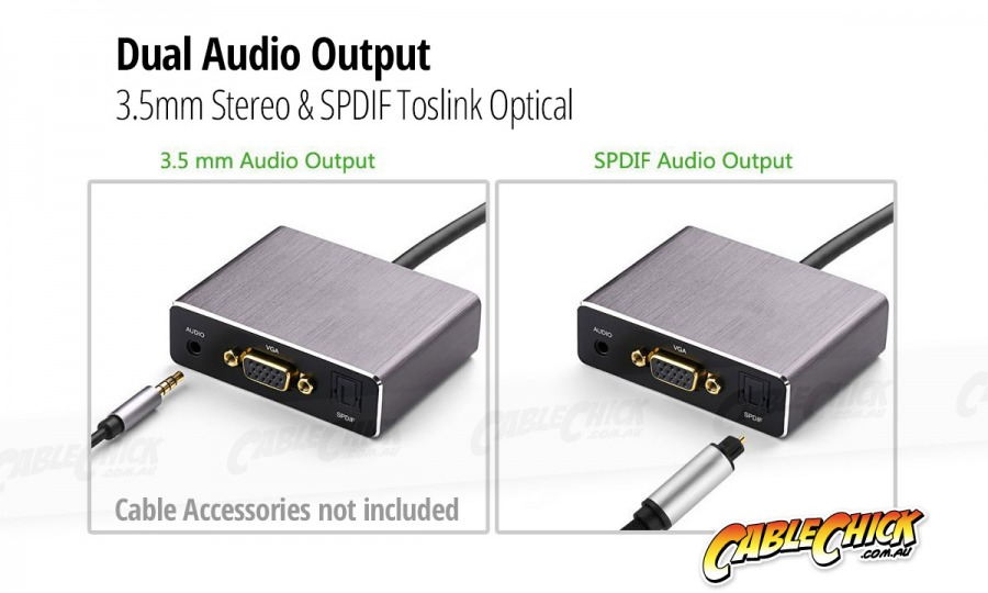 Premium HDMI to VGA + 3.5mm  & TOSLINK Digital Audio Adapter (Photo )